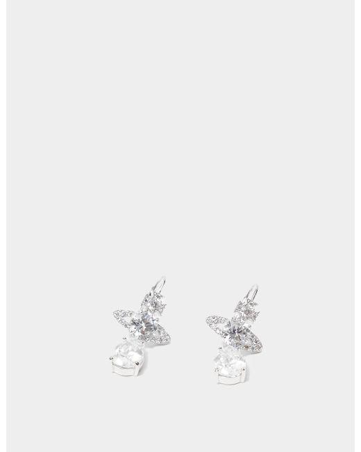 Vivienne Westwood White Ismene Drop Earrings