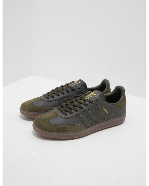 bd661718c4d8 Adidas Originals - Green Samba Leather Og Olive olive for Men - Lyst ...