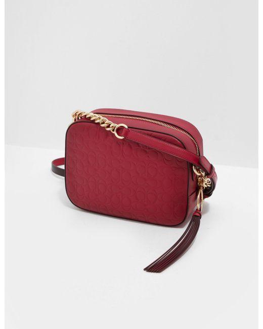 COACH Signature Camera Shoulder Bag Red