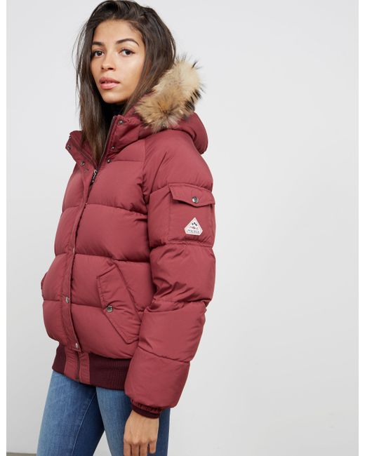 5328572af Women's Aviator Padded Jacket Red