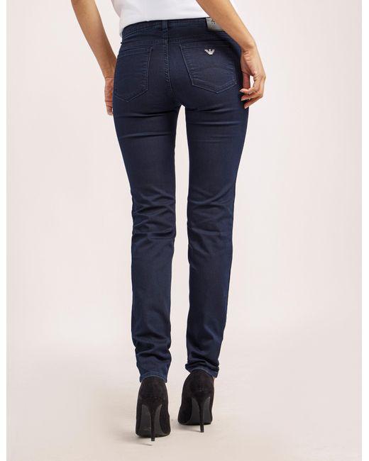 Armani Jeans | Blue J28 Mid Waist Jeans | Lyst