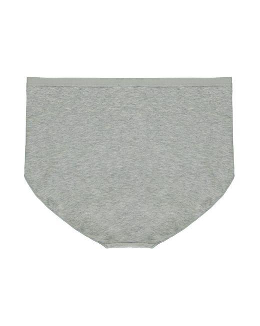 Tezenis Gray Taillenslip aus Mikrofaser und Spitze