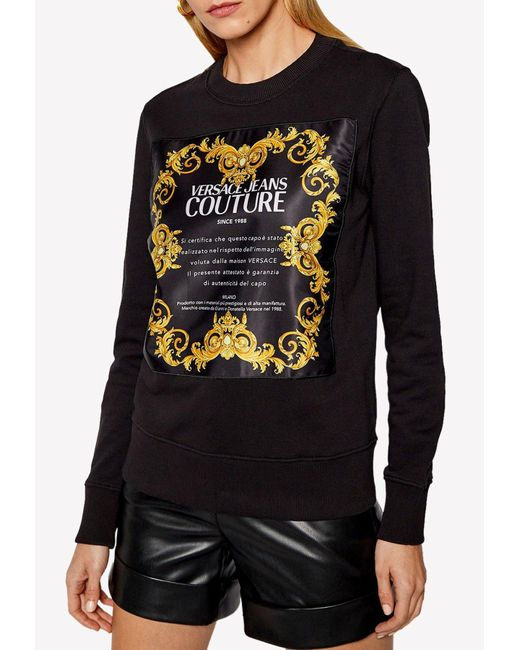 Versace Jeans Black Barocco Print Cotton Shirt Uk 10