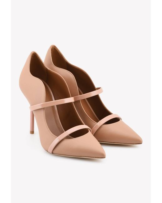 Malone Souliers Brown Maureen 100 Pumps In Nappa Leather
