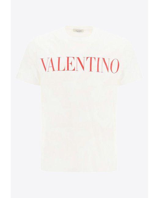 Valentino White Logo Camouflage Cotton T-shirt M for men