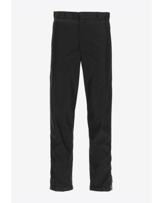 Prada Black Re-nylon Gabardine Track Pants It 46 for men