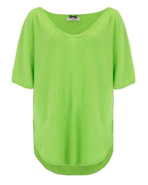 Cocoa Cashmere - Green Poncho Cashmere Jumper - Lyst