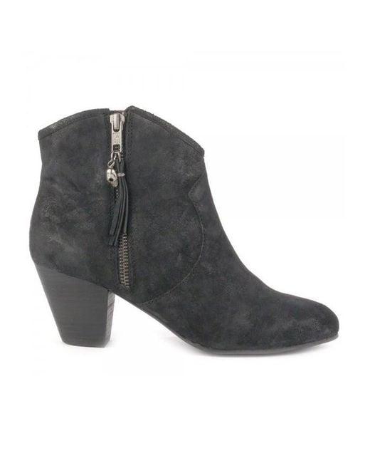 Ash - Black Jess Suede Ankle Boots - Lyst