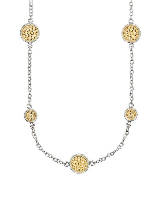 Anna Beck - Metallic Multi Disc Station Necklace - Lyst