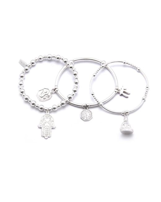 ChloBo - Multicolor Set Of 3 Karma Bracelets - Lyst