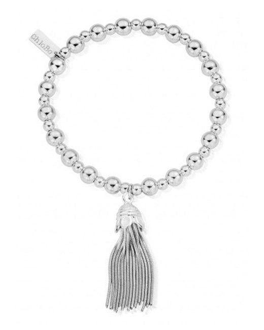 ChloBo - Metallic Mini Small Ball Tassel Bracelet - Lyst