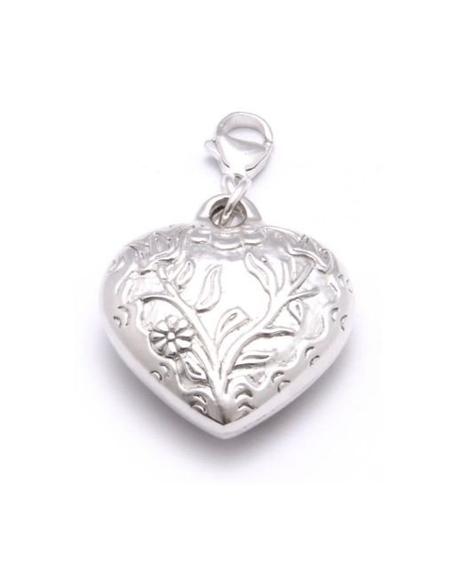 ChloBo - Metallic Large Embossed Heart Pendant Charm - Lyst
