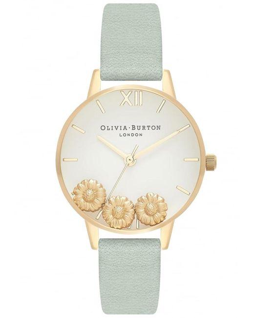 Olivia Burton - Metallic Dancing Daisy Midi Dial Watch - Lyst
