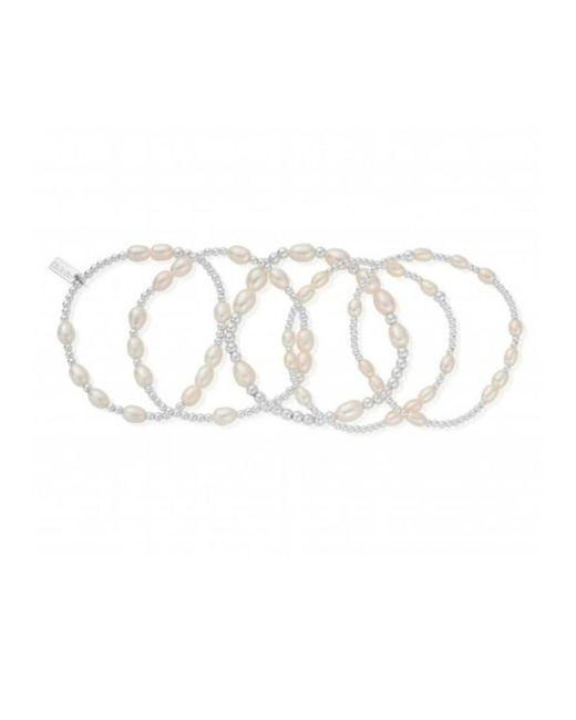 ChloBo - Metallic Stack Of 5 Random Bracelets - Lyst