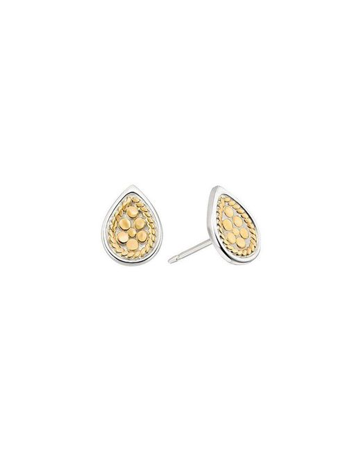 Anna Beck - Metallic Teardrop Stud Earrings - Lyst