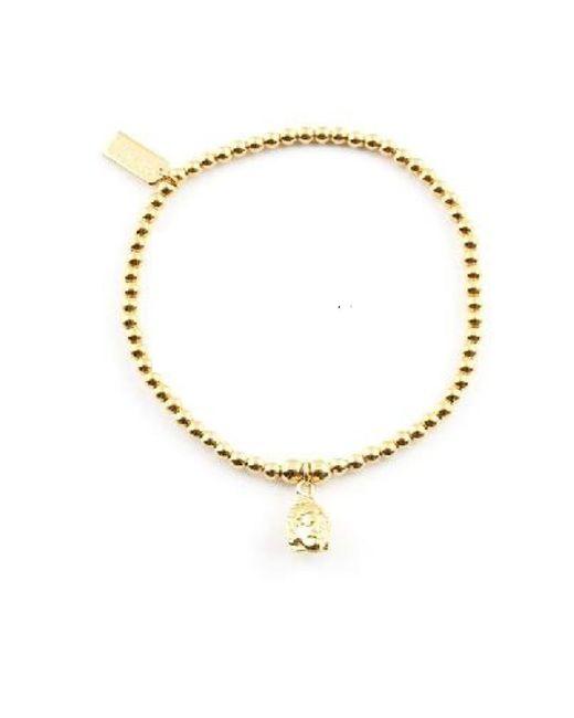 ChloBo - Metallic Cute Charm Bracelet With Buddha Head Charm - Lyst
