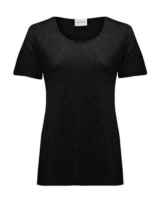 lyst american vintage jacksonville round neck tee in black. Black Bedroom Furniture Sets. Home Design Ideas