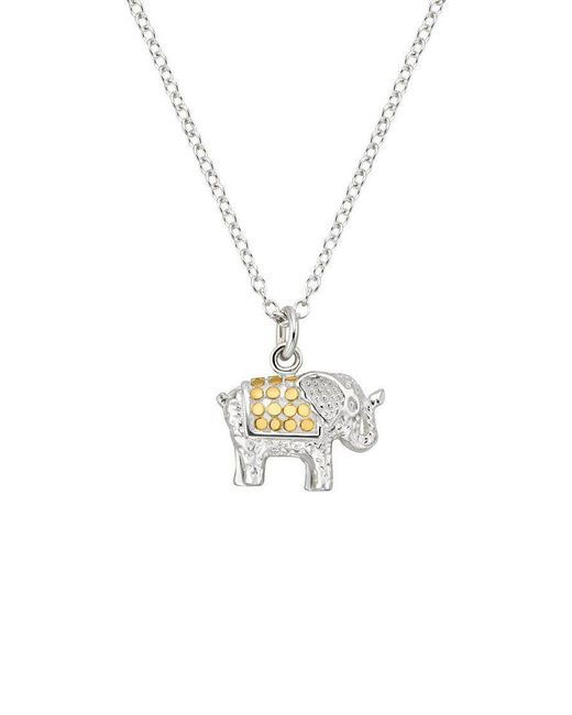 Anna Beck - Metallic Small Elephant Charity Necklace - Lyst