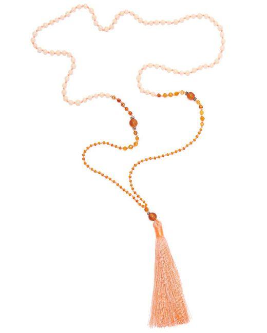 TRIBE + FABLE - Metallic Single Tassel Necklace - Lyst
