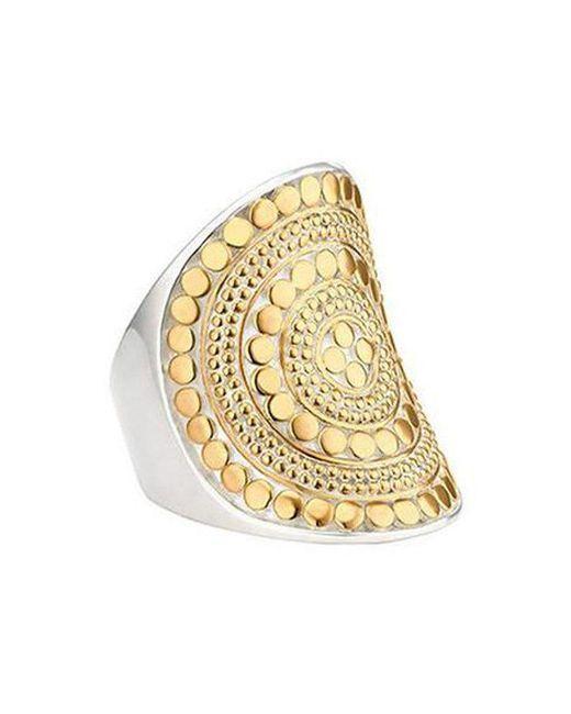 Anna Beck - Metallic Beaded Saddle Ring - Lyst