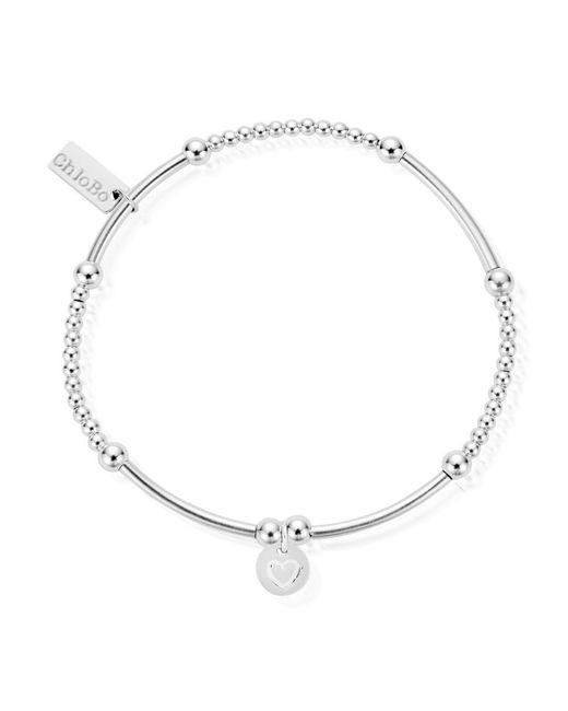 ChloBo - Metallic Cute Mini Bracelet With Heart In Circle Charm - Lyst