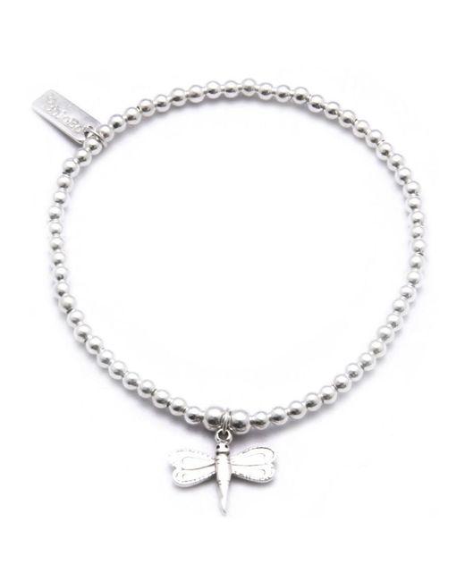ChloBo Metallic Cute Charm Dragonfly Bracelet
