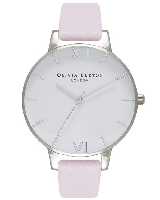 Olivia Burton - Metallic Big White Dial Watch - Lyst