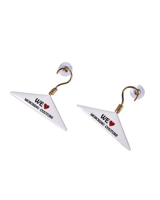 Moschino - Metallic Dry-clean Hanger Earrings - Lyst