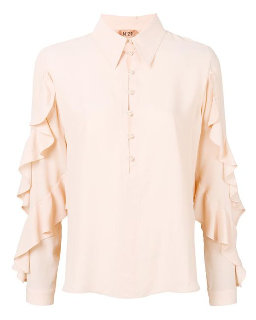 N°21 - Pink No21 Ruffle Sleeve Blouse - Lyst