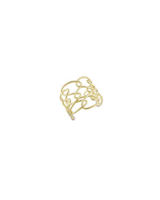 Catherine Malandrino | Metallic 18k Goldplated Interlace Cuff Bracelet | Lyst