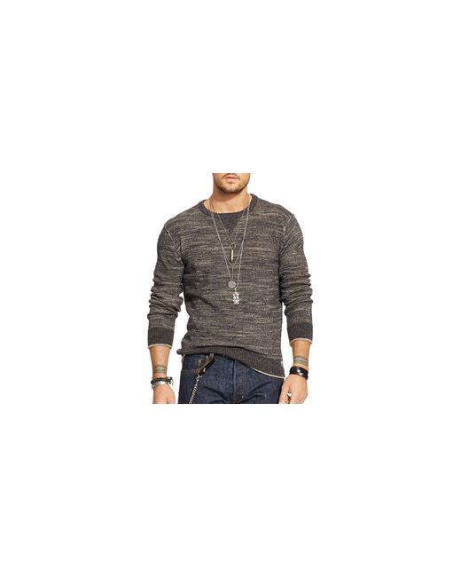 Denim & Supply Ralph Lauren | Brown Cotton Crew Neck Sweater for Men | Lyst