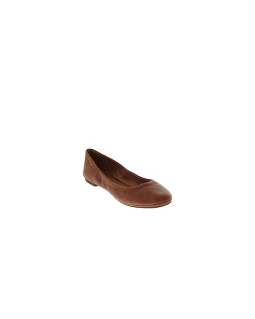 Lucky Brand | Brown Emmie Ballet Flats | Lyst