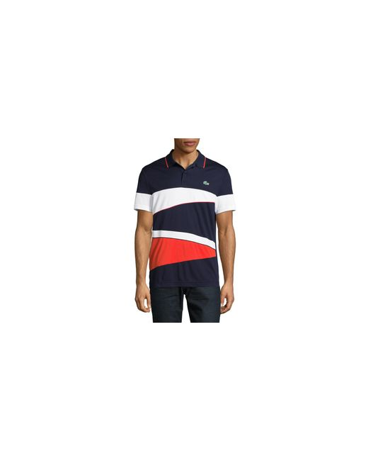 Lacoste | Blue Rugby Stripe Polo for Men | Lyst