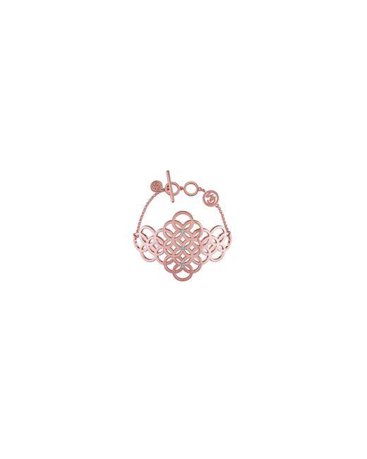 Catherine Malandrino | Pink 18k Rose Goldplated And 0.1tcw Diamond Circle Linked Cluster Bracelet | Lyst