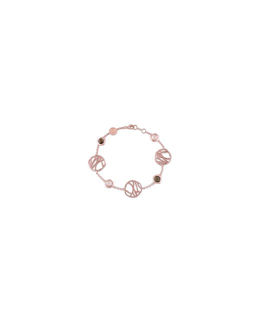Catherine Malandrino | Pink 18k Rose Goldplated Rose And Smokey Quartz Bracelet | Lyst