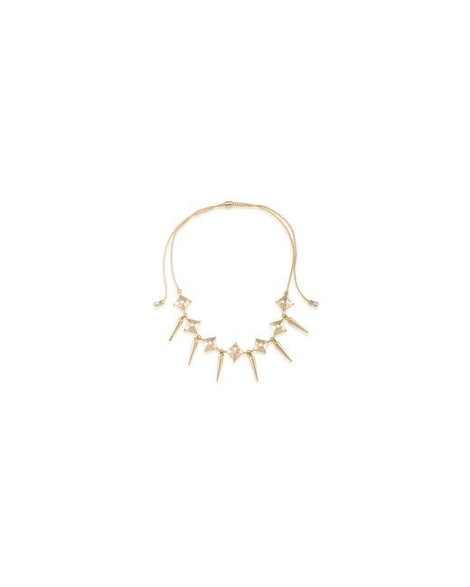 ABS By Allen Schwartz | Metallic Choker Spike Drop Necklace | Lyst