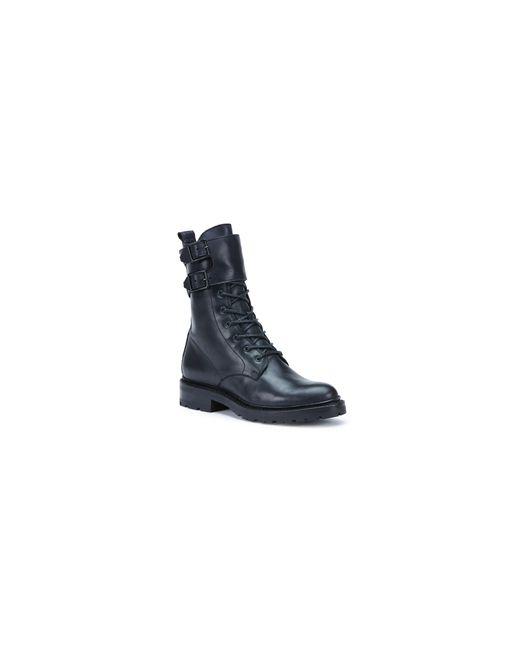 Frye   Black Julie Shield Leather Combat Boots   Lyst