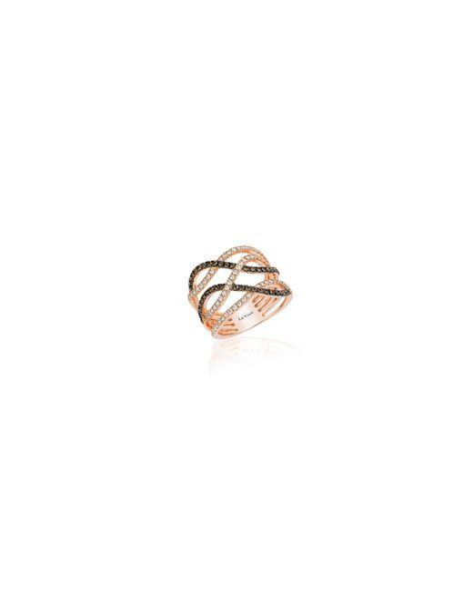 Le Vian | White 14k Strawberry Gold Gladiator Weave Ring | Lyst