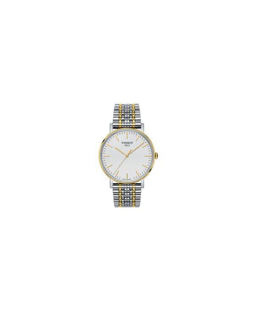 Tissot | Metallic Analog T Classic Two-tone Bracelet Watch for Men | Lyst