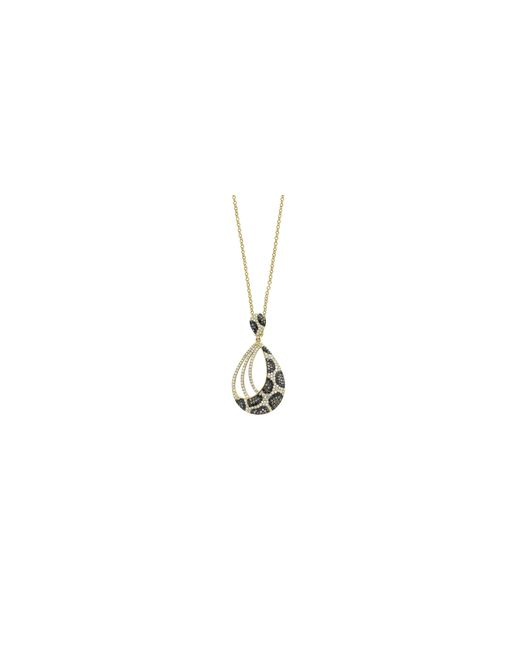 Effy | Metallic 14k Yellow Gold Pendant Necklace With 1.06tcw Diamond, Black Diamond, Espresso Diamond | Lyst