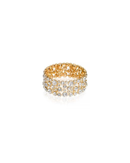 Guess | Metallic Crystal Accented Bracelet | Lyst