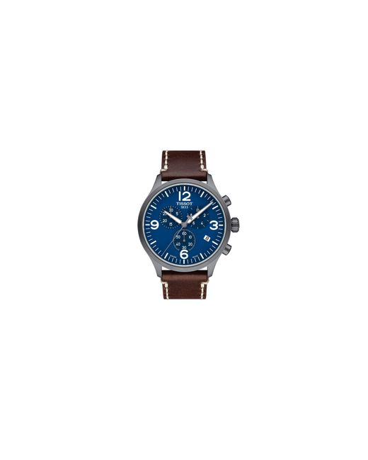 Tissot | Blue Chronograph T Sport Stainless Steel Leather Strap Watch for Men | Lyst