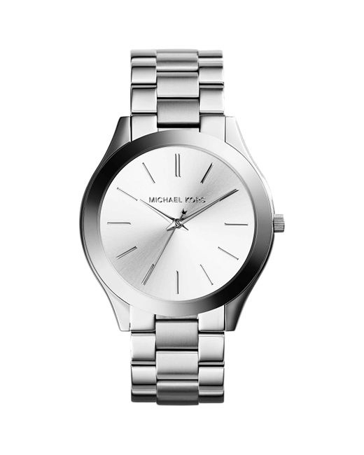 Michael Kors Slim Runway Dames Horloge in het Metallic