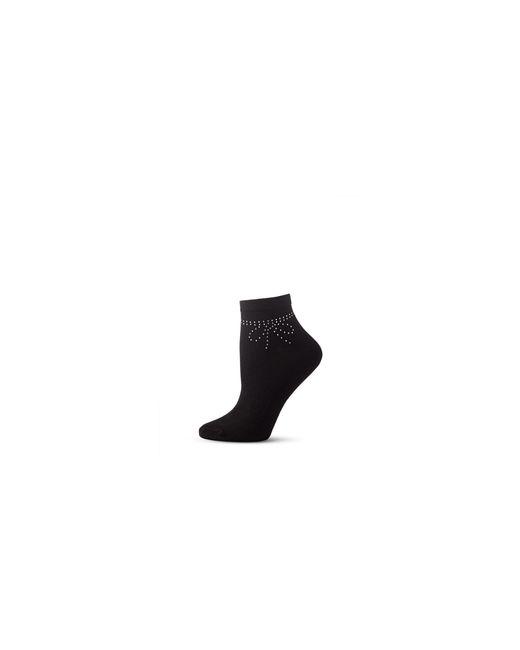 Kate Spade | Black Womens Rhinestone Bow Ankle Socks | Lyst