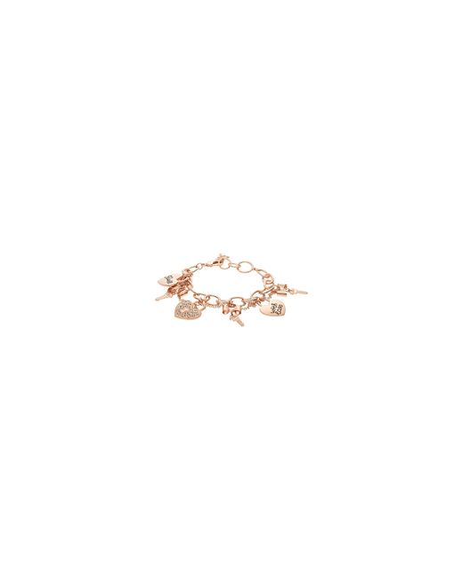Guess   Metallic Key And Heart Charm Bracelet   Lyst