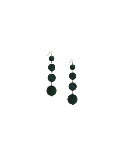 Lord & Taylor | Green Multi Velvet Sphere Earrings | Lyst