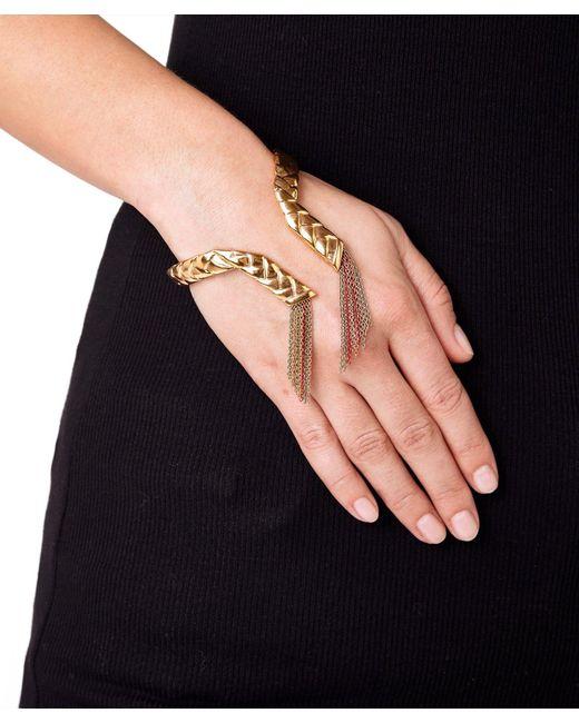 Eshvi Metallic Braid 23 Women Gold Bracelet