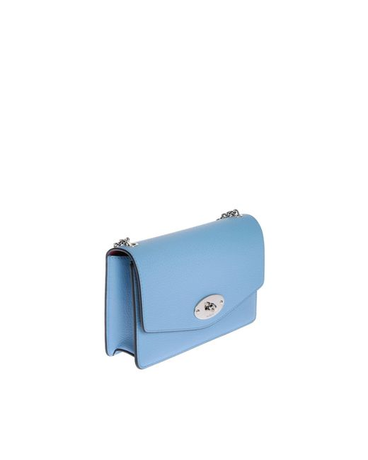 Borsa Small Darley Azzurra di Mulberry in Blue