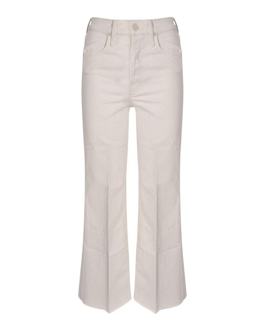 Jeans The Tomcat Roller Fray Avorio di Mother in White