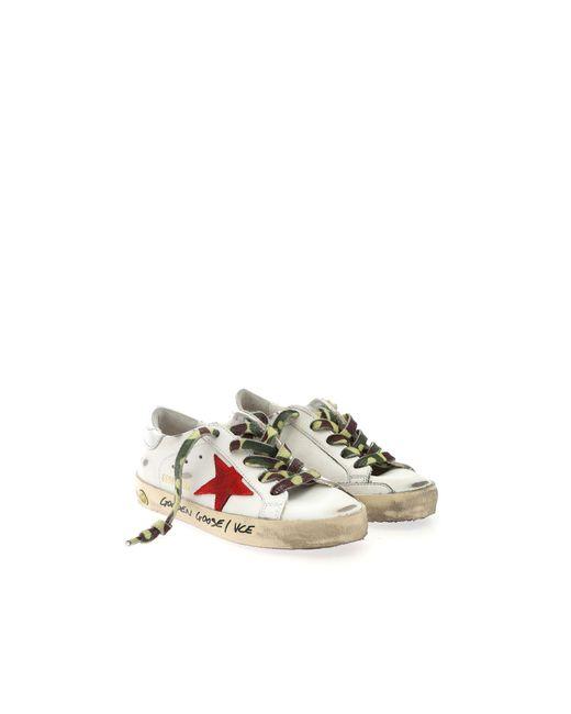 Golden Goose Deluxe Brand White Superstar Classic Sneakers for men